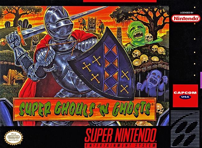 Boite de Super Ghouls 'n Ghosts sur Super Nintendo